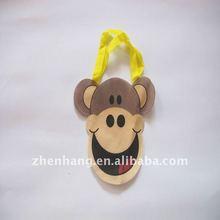 Printed monkey kids hand puppets