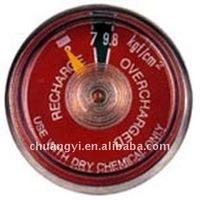 """dry powder 1""""Pressure gauge"""