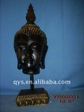 head of resin buddha statue craft