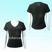 Rhinestones Women cotton t-shirt