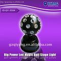 Qy-3504 1*3w rotación rgb magia pequeña luz led bola de discoteca