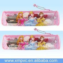 PVC pencil carry vinyl zipper bags like around pouch XYL-D-S084