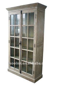 French Wooden Glazed Cabinet W5819S