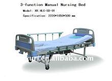 3 cranks manual nursing hospital bed