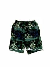 hot-selling casual 100% polyester boys beach short pants stocks