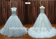 Nice Lace,applique, High Quality Organza,discount wedding dresses
