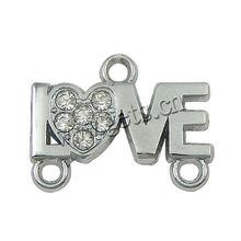 zinc alloy LOVE letter connectors