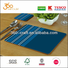 wooden waterproofing MDF cork placemats and coasters/ heating resist cork placemats and coasters