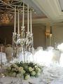 Con estilo de cristal de altura de los candelabros de la boda MH-1319
