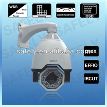 540TVL Effio-e CCD 27/30X Optical Zoom 10x Digital Zoom High Speed dome 180 Degree/S Rotate Outdoor CCTV PTZ Camera
