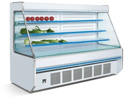 Open type grocery fruit and vegetable display refrigerator with air curtain