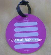 Round Shape PVC Luggage Tag