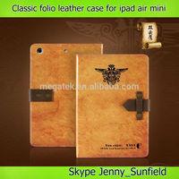 old classic book folio leather case for ipad air mini 2 3 4,for ipad case leather ,for ipad air case folio