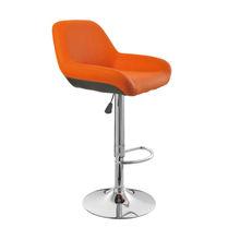 PU bar chair with chromed base JR-6226