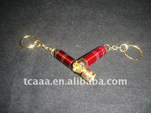 LED flashing mini keychain torch