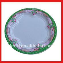 waving flower melamine plate