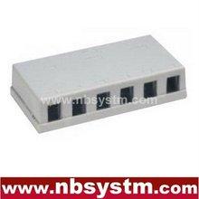 6 ports Surface Box UTP Cat5e RJ45 PCB jack