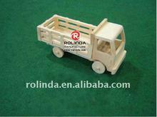 Handmade wooden model truck