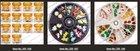 FBR02 Fruit Wheel Nail Art 120pcs Fimo slices 10 Style 3D Design Decoration Tips UV Acrylic clay Manicure Rhinestones