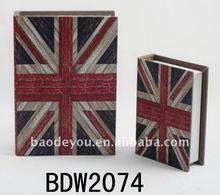 Union Jack wooden storage book box
