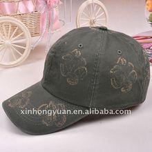 Grey blank polycotton twill man printed baseball cap