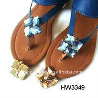 2012 hot lady sandal acrylic rhinestone clips for flip flops