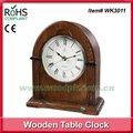 23 x 26 cm demonstração top quartzo de madeira antigo relógio de mesa 24 hora relógio analógico