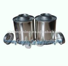 437ml pvc glue tin can, tin bottle
