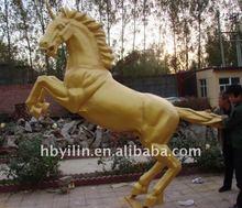 bronze unicorn sculpture standing horse statue
