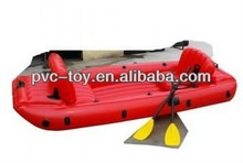 new design promotional pvc large inflatable boat for racing