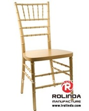 Wooden Gold Silla Tiffany Dining Chairs