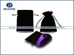 popular New arrival black velvet gift bags pouch