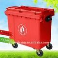 gran volumen de reciclaje de plástico de los contenedores con ruedas