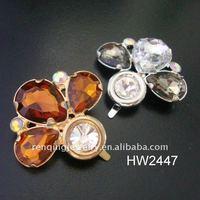 2012 hot lady sandal acrylic rhinestone buckles