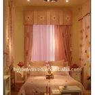 Beautiful organza curtain for wedding room decoration/home decoration organza roll.