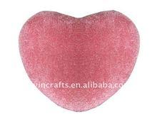 plush heart shape throw pillow