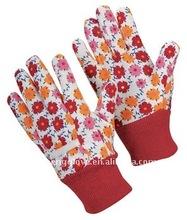 Flower-pattern working glove, Fashional Gardening Glove, Safety Glove, Protection Equipment, China, Lady Size
