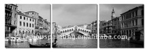 Wall pictures of City Venice Italy in black and white