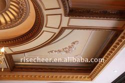 Decorative PU Cornice Moulding on ceiling