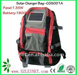 1.35W 1800MAH rechargeable solar bag