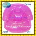 fábrica de plástico venda quente ar pvc cadeira de bebé inflável para as crianças