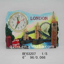 polyresin London gift clock (BF63207)