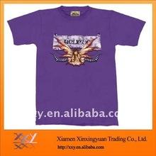 Heat Transfer Logo Printed On Plain T-shirts for Men