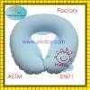 plastic pvc flocked inflatable nursing pillow for baby