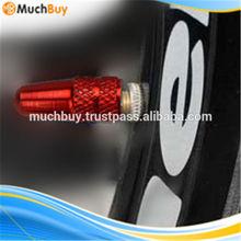 Smart Red Diameter 0.6cm Bicycle Aluminum Alloy Valve Cover