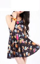 Adventure Time Montage Black Skater Dress