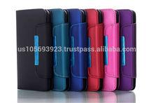 Plain Matte Design Flip case with Credit holder /wallet/Hand blet 5colors for Iphone6