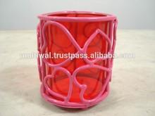 valentine pillar candle holder, valentine candle holders with tea light, Valentine gift, Valentine Decorations