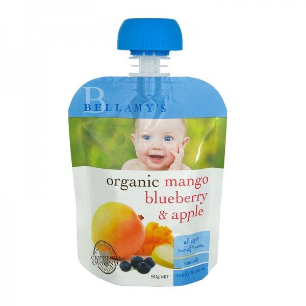 Bellamy's Organic Mango, Blueberry & Apple Ready Baby Food (No ...