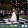 Best quality portable dance floor black and white, portable modular dance floor